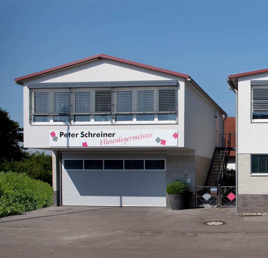 Unser Firmensitz mit großer Fliesen-, Marmor-, Mosaik- und Natursteinausstellung in Asperg – Peter Schreiner Fliesen GmbH, Asperg
