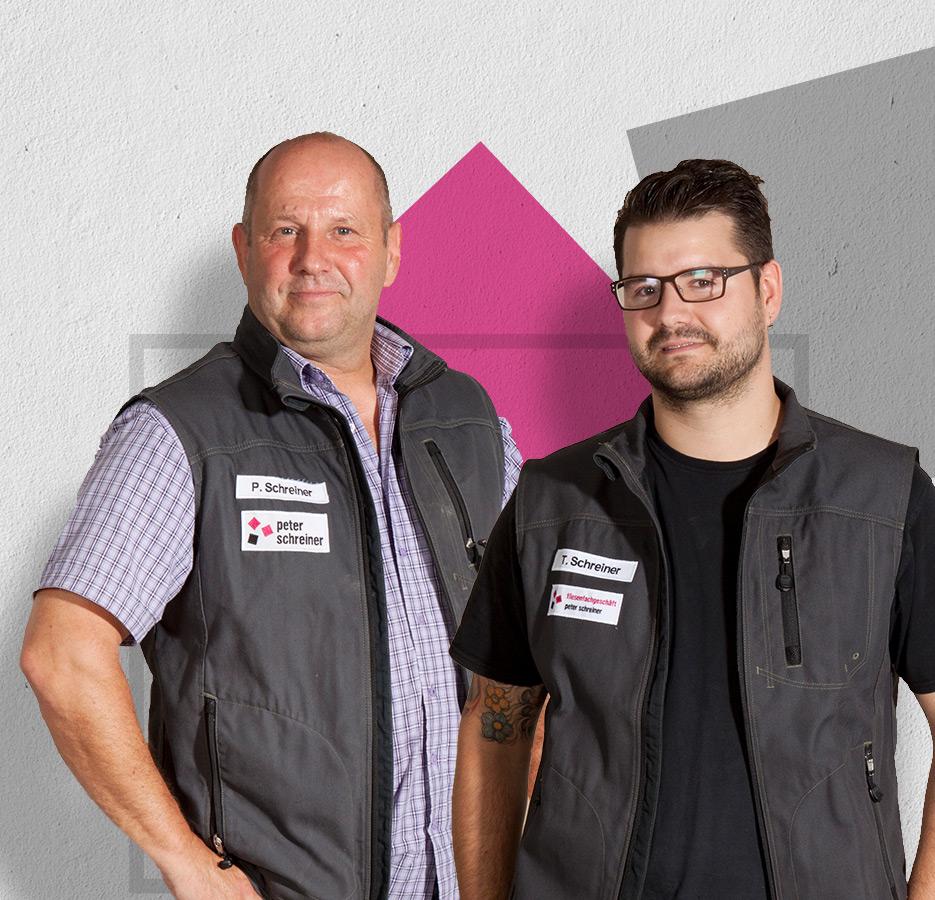 Unsere meisterliche Geschäftsführung, Peter und Timo Schreiner – Peter Schreiner Fliesen GmbH, Asperg